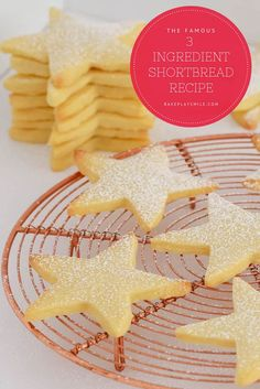 The famous 3 ingredient shortbread recipe is the easiest shortbread you'll ever make. all you need is butter, plain flour and icing sugar! Sugar Biscuits Recipe, Icing Sugar Recipe, Shortbread Biscuits, Shortbread Recipes, Plain Biscuit Recipe, 3 Ingredient Cookies, 3 Ingredient Recipes, Christmas Food Gifts, Christmas Cooking