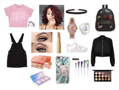 """Promise"" by natalie-hong on Polyvore featuring Monki, Too Faced Cosmetics, Humble Chic, Rolex, adidas, Ollie & B, Casetify, River Island and MAC Cosmetics"
