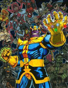 #Thanos #Fan #Art. (Thanos Triumphant - The Infinity Gauntlet) By: Corvus1970. ÅWESOMENESS!!!™