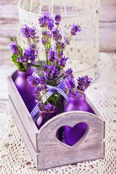 It's all about Hearts - Ana Rosa Lavender Cottage, Lavender Blue, Lavender Fields, Lavender Flowers, Purple Flowers, Beautiful Flowers, Lavander, Purple Bouquets, Purple Love