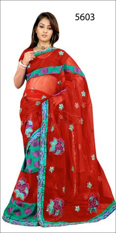 Shop SIXMETER #Casual Wear Red Silk Saree at 99trendz.com. This is a perfect addition to every women's #Sarees Collection.