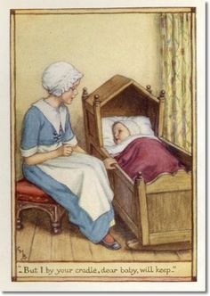 Cicely Mary Barker - A Little Book of Old Rhymes - Two Hushabyes Archival Fine Art Paper Print