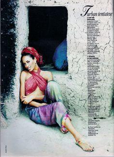 Brandi Quinones by Andre Rau   for Elle France, August 1993