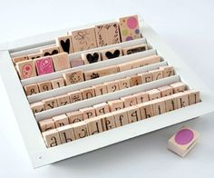 Finally a way to store stamps.  It's a vent cover available at home improvement stores.