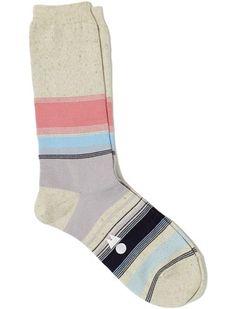 Pink White Blue Stripe Socks | Ow Socks
