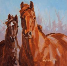 """Daily Paintworks - """"Friends III """" - Original Fine Art for Sale - © Susan Ashmore"""