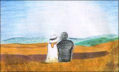 The Bidoggias #illustration #crayon #tuscany  http://dettapini.blogspot.it/2012/08/postcard-from-tuscany.html