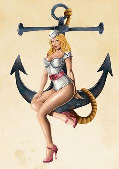 Sailor Pin up http://jimjaz.deviantart.com/art/Sailor-Pin-up-295804857