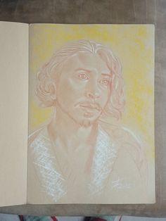 King Louis by Théo Adamec #themusketeers #ryangage #fanart #portrait #pastel #sanguine #TheoAdamec