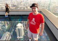 Being able to stand on glass and look directly down 76 floors is insane. feet up. Floors, My Photos, Glass, Mens Tops, T Shirt, Instagram, Fashion, Moda, Tee Shirt