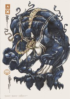 Marvel character art series: Venom by Clog Two