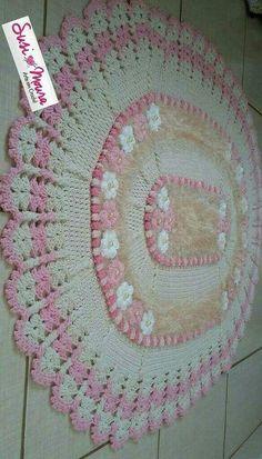 Coisas de Cozinha Crochê: Imagens, Passo a Passo + Sorteio de Peças. Diy Crochet Poncho, Crochet Chain, Crochet Home, Crochet Baby, Free Crochet, Knit Crochet, Doily Rug, Crochet Doilies, Crochet Carpet