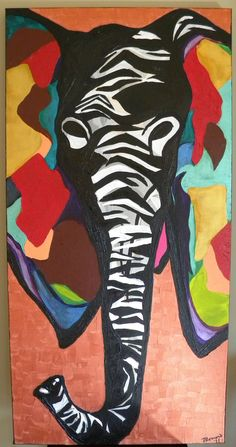 """Talk"" 18x36"" acrylic on canvas  by rachelromero"
