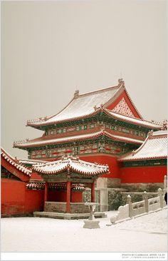 Snow in Forbidden City, Beijing, China