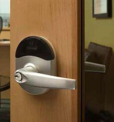 Schlage® NDE wireless lock with ENGAGE™ technology | allegion Door Handles, Technology, Tech, Door Knobs, Tecnologia, Engineering, Door Pulls
