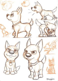 Cute Dog Sketches by Craig Bruyn, via Behance