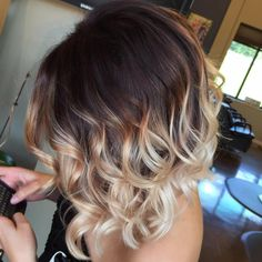 Brown To Blonde Ombre Bob