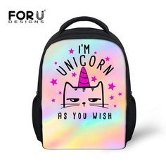 070a63dcae FORUDESIGNS Unicorn Cute kids Backpack School Bag For Kindergarten Girls  Kawaii Shoulder Bag 12 Inch Mini Book Bags Hot Mochila
