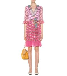 Nieves multicoloured printed silk wrap dress diane v. furstenberg