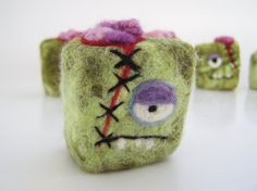 Hey, I found this really awesome Etsy listing at https://www.etsy.com/listing/108696530/felted-soap-mini-monster-zombie-brains