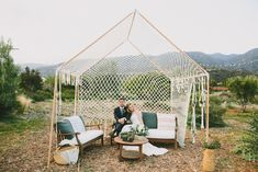 Macrame Tent for an Ojai Wedding
