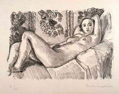 "Henti Matisse, ""Nude Drawing""."