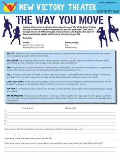 Create a dance based on your life! Use our HyperISH-inspired printable worksheet to think and talk about ways that physical expression can communicate our stories and feelings! Great for physical fitness and arts education lessons!