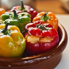 You'll surely love this stuffed ‪#‎minipeppers‬ with Spanish tortilla. This is real fun and yummy too!