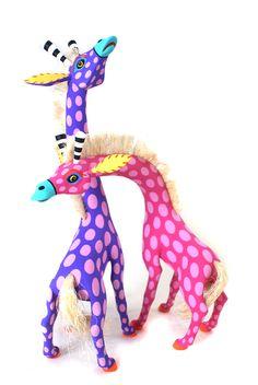 Oaxacan Wood Carvings Gallery Luis Pablo Giraffes
