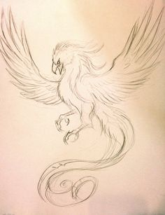 Phoenix Tattoo Sketch by Lucky978.deviantart.com on @deviantART: Close to phoenix I'd want