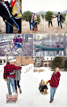 Winter holiday photos.. Would be really cute engagement photos