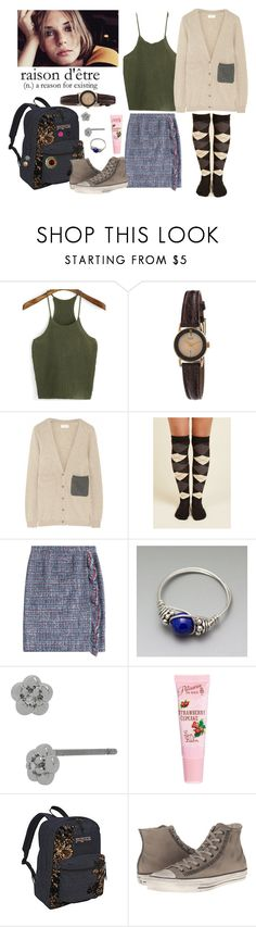 """Susan Teel 1"" by stockmon ❤ liked on Polyvore featuring WithChic, American Apparel, Chinti and Parker, Boutique Moschino, Lazuli, Betsey Johnson, ASOS, JanSport, Converse and Laurafallulah"