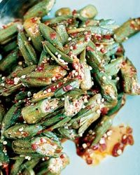 Spicy Fried Okra with Crispy Shallots Recipe - Chris Yeo Okra Recipes, Spicy Recipes, Vegetable Recipes, Wine Recipes, Asian Recipes, Great Recipes, Malaysian Cuisine, Malaysian Food, Shallot Recipes