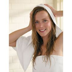 TIP 3 #Frizz Mistakes To Avoid: Towel-Drying Your Hair! Roughing up wet strands with a towel will only ruffle the hair's cuticle, so gently press and squeeze out the water with Aquis Lisse Microfiber Hair Towel. It's a ShamWow for your head, but, you know, chicer. $23.95