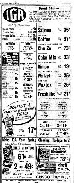Vintage IGA Ad, Vimco Macaroni, Plain Dealer, Cleveland, OH, March 28, 1954, pg 119
