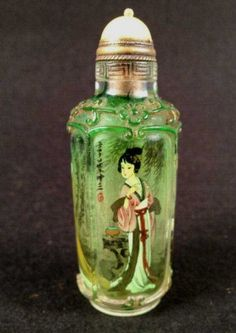 Reverse Painting of Peking Glass Snuff Bottle http://www.liveauctioneers.com/item/15729069