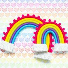 Bright colourful rainbows, wall hanging, fibre art Fibre Art, Rainbows, Etsy Seller, Fiber, Bright, Create, Wall, Handmade, Color