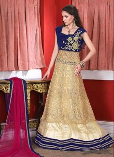 Noble Net A Line Lehenga Choli