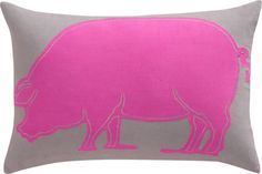 "Someone needs to buy this for me!pink pig 18""x12"" pillow in pillows 