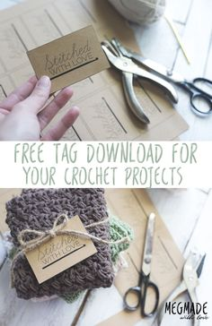 Another Free Tag Download for Your Crochet Projects! — Megmade with Love