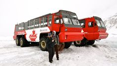 The giant Brewster that takes you on the Athabasca Glacier, Banff National Park, Alberta, Canada