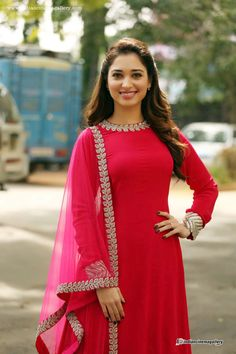 tamanna-bhatia-in-red-salwar-stills-(4)