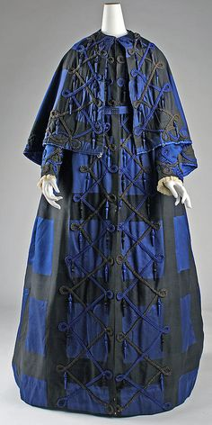 Dress  Date: 1860s Culture: American Medium: silk  Accession Number: 1979.346.97a–c  Metropolitan Museum of Art