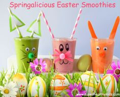 Springalicious Easter Smoothies | Healthy Ideas for Kids