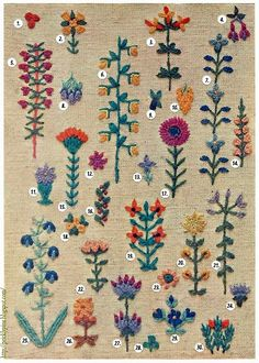 30 Tiny Floral Embroidery Motifs | Prickly Pins