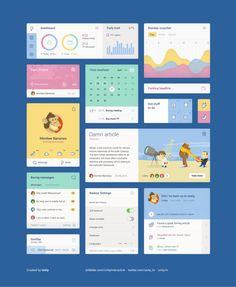 yellow blue user interface design - Google Search. If you like UX, design, or design thinking, check out theuxblog.com