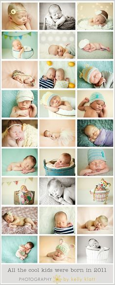 newborns; generally asleep, but snoozing makes for a myriad of adorable posing options! A space heater & white noise machine as well as safe, soft backdrops are all you need for sweet pictures. Spruce things up with some simple decorative details, like hats, wraps, props, & baskets.