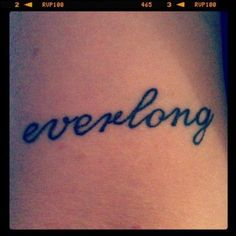 I'm pretty sure I'm stealing this tattoo idea. In fact, I think I may start covering my body with song lyrics...