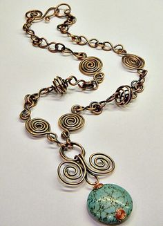"""Sky on a Chain Necklace  ~""""~"""
