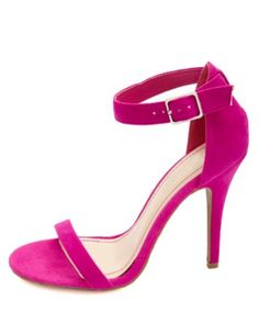 d222a77c9ec Single Sole Ankle Strap Heels  Charlotte Russe